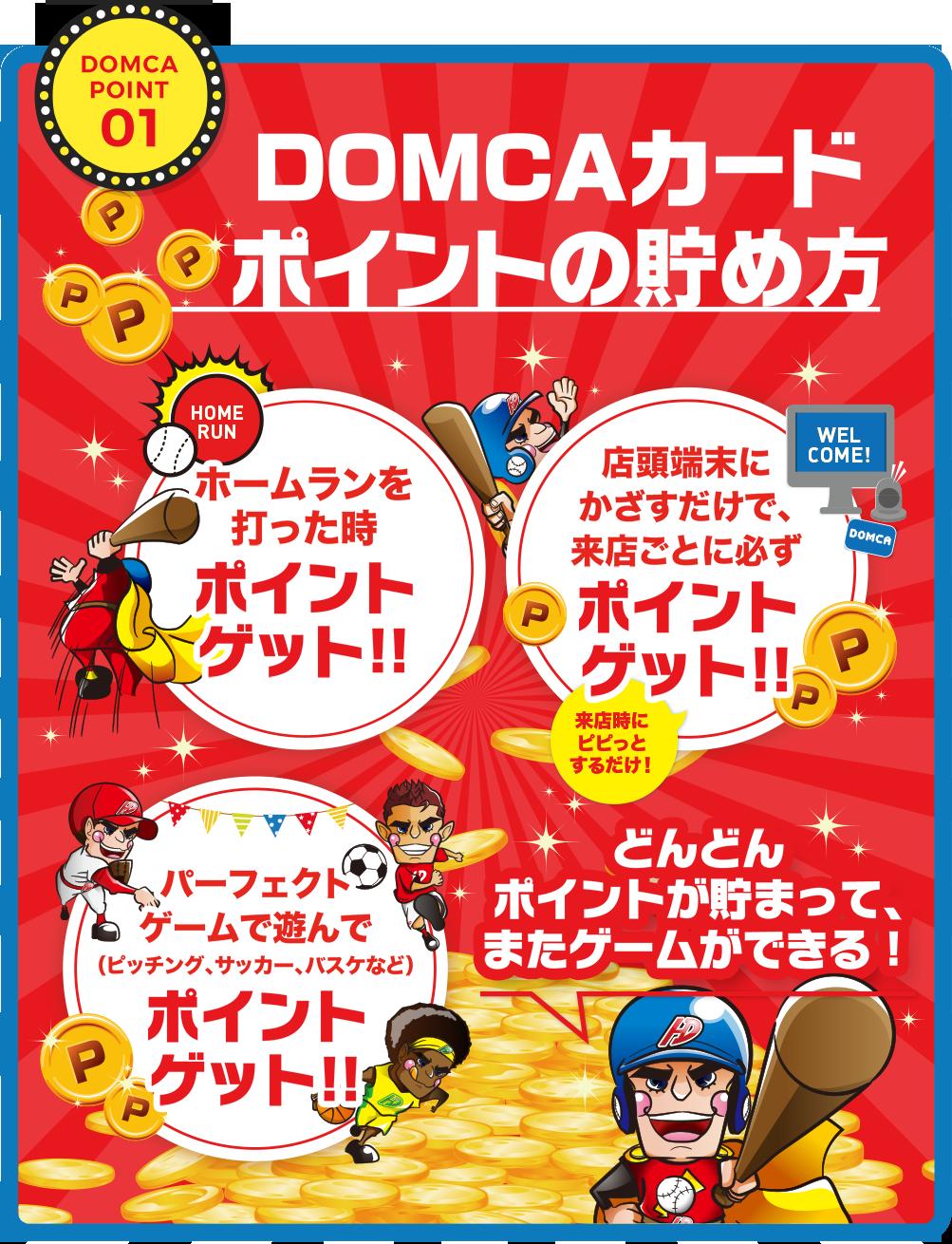 POINT01 DOMCAカードポイントの貯め方